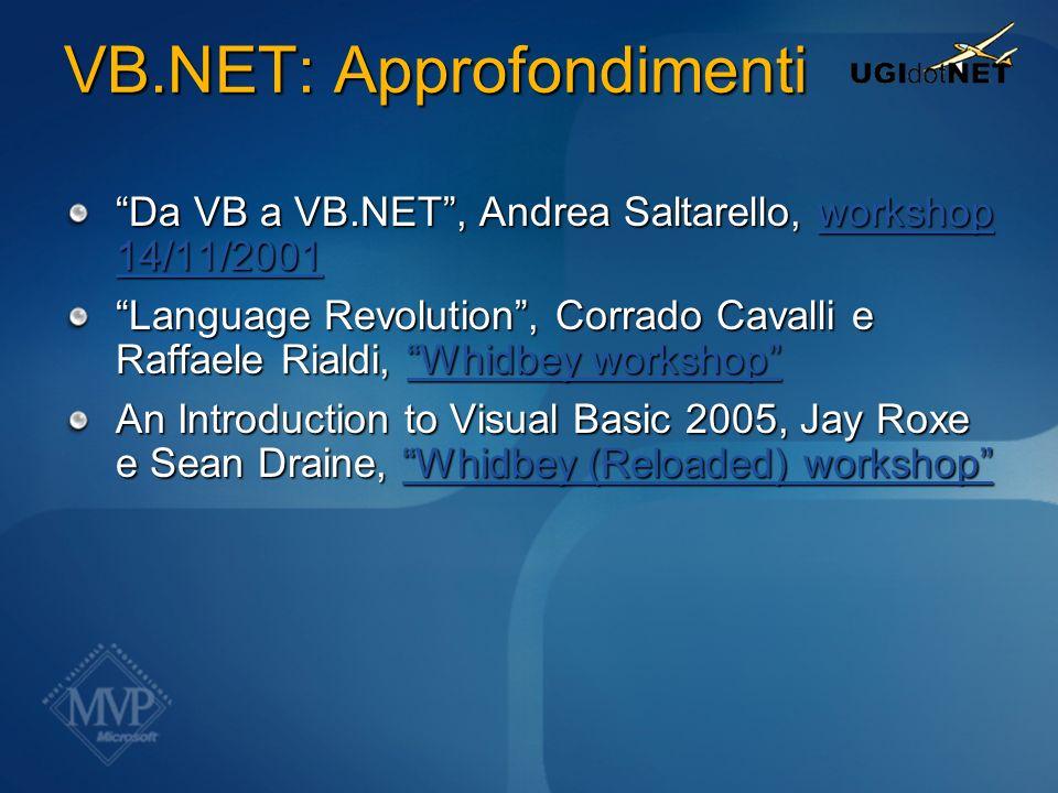VB.NET: Approfondimenti