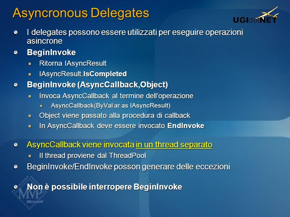 Asyncronous Delegates