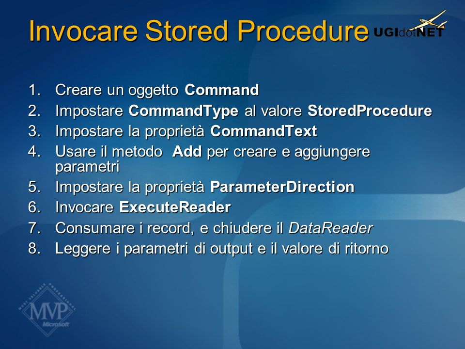Invocare Stored Procedure