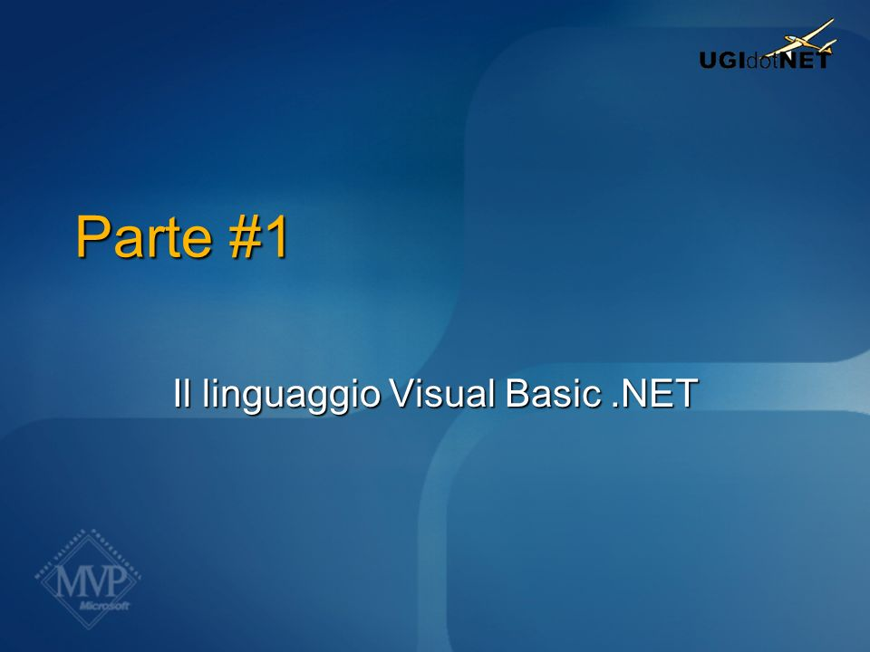Il linguaggio Visual Basic .NET