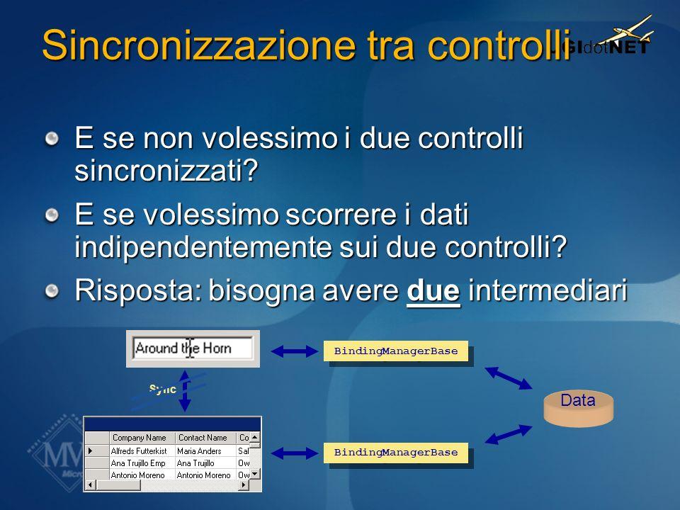 Sincronizzazione tra controlli
