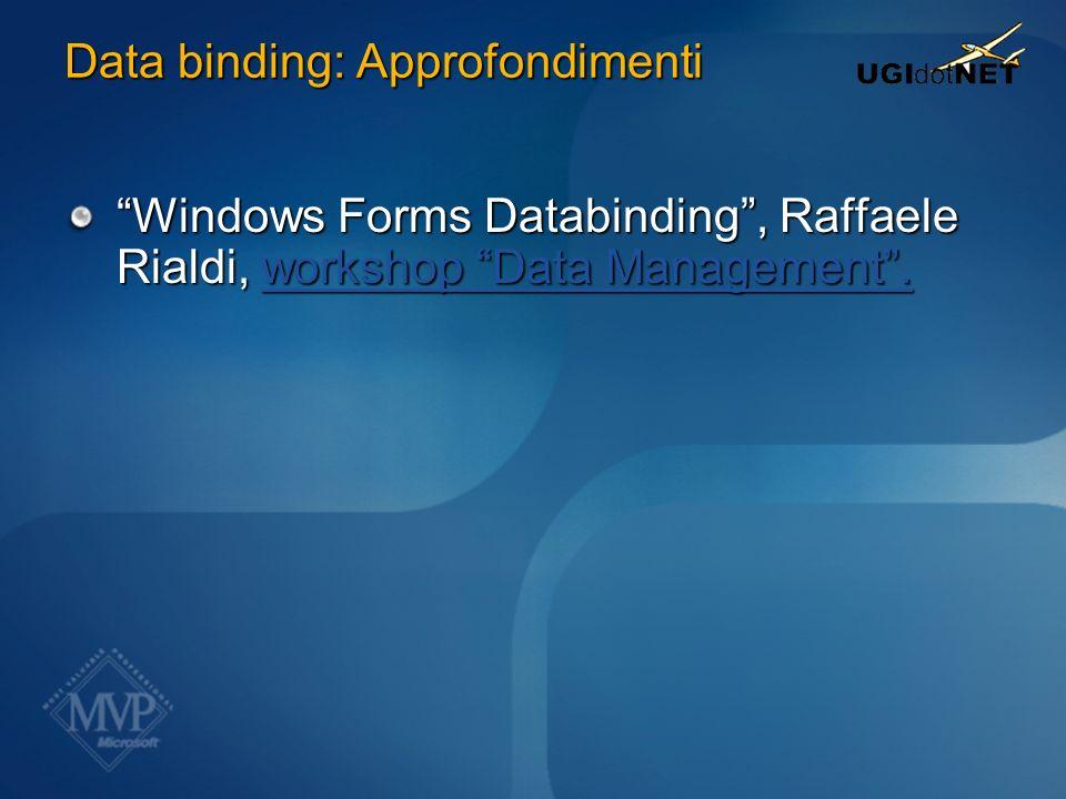 Data binding: Approfondimenti