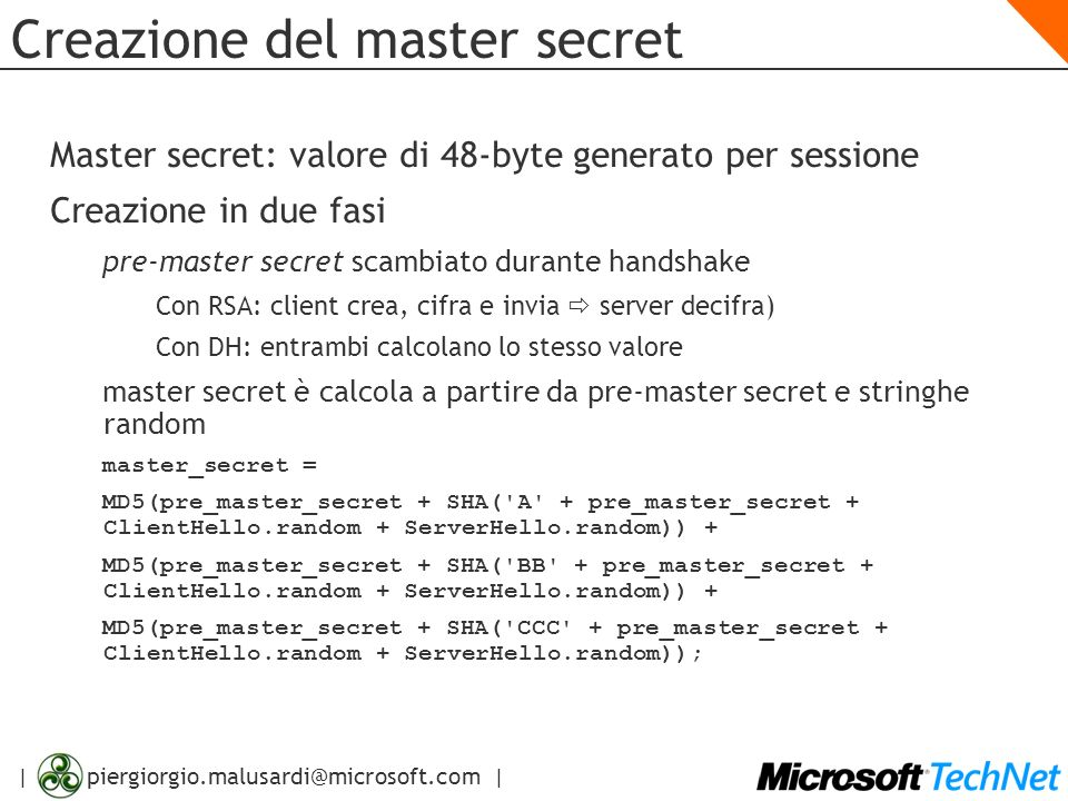 Creazione del master secret