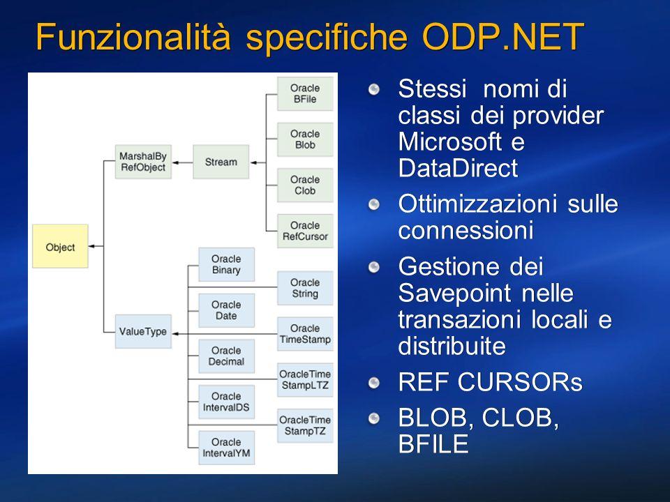 Funzionalità specifiche ODP.NET
