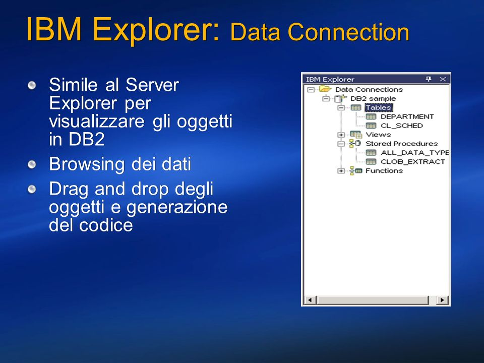 IBM Explorer: Data Connection