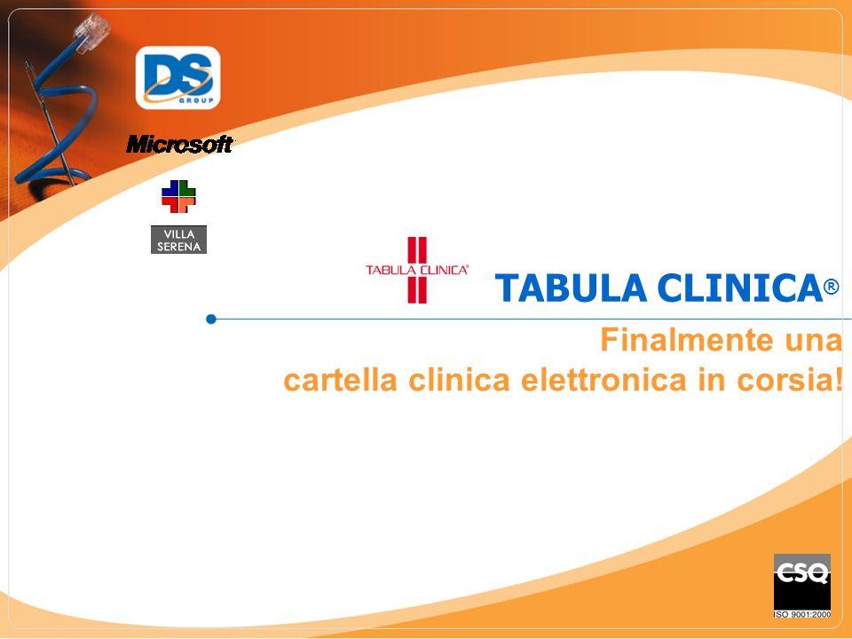 TABULA CLINICA® Finalmente una cartella clinica elettronica in corsia!