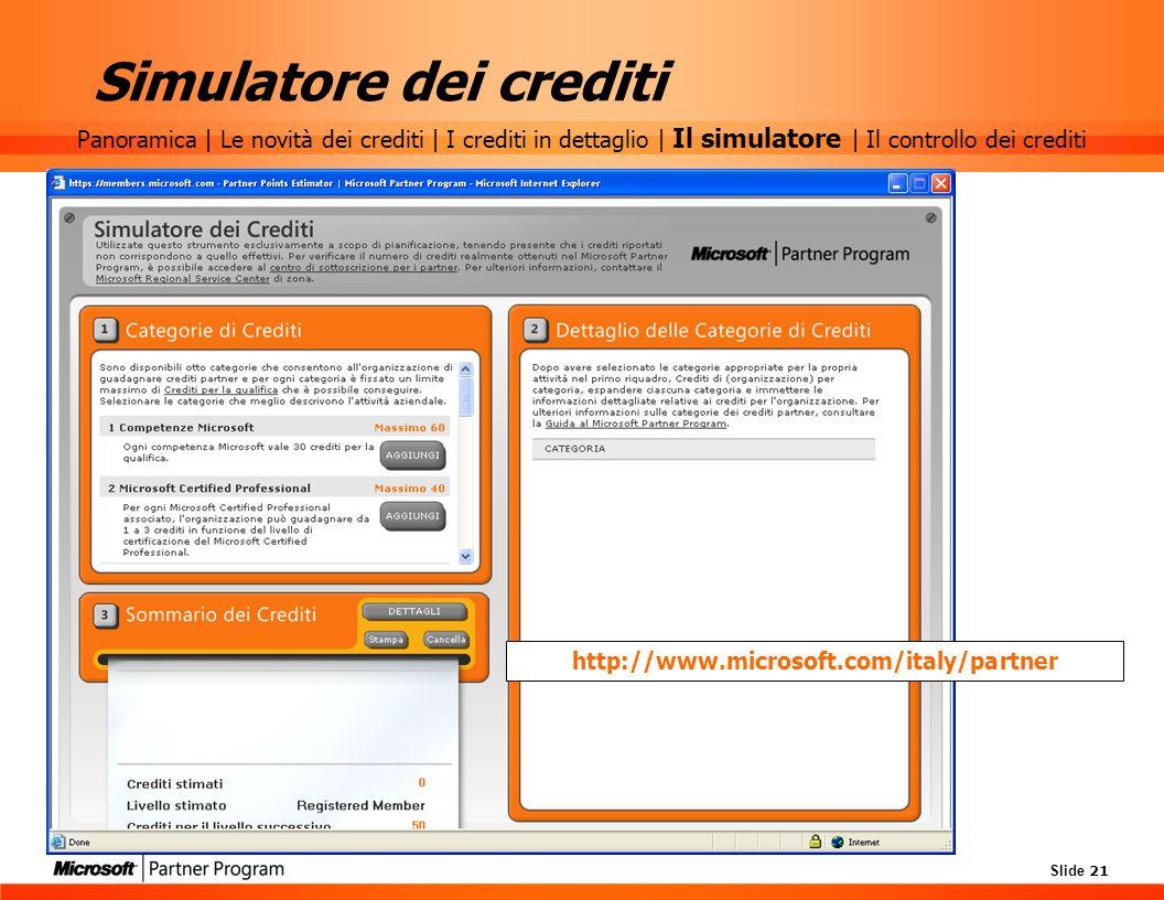 Simulatore dei crediti