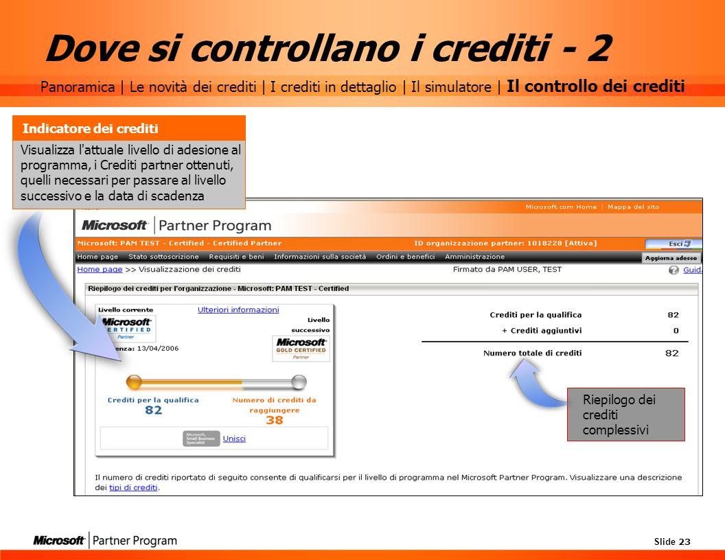Dove si controllano i crediti - 2