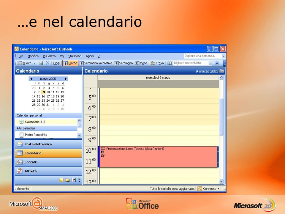 …e nel calendario