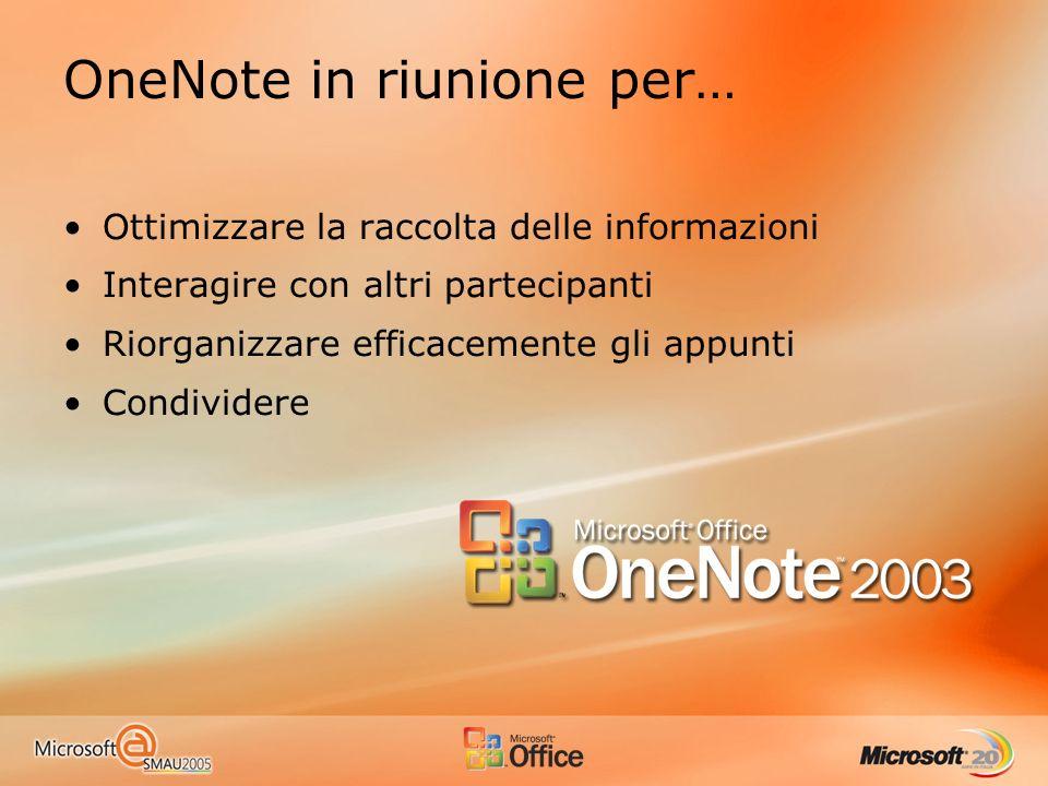 OneNote in riunione per…