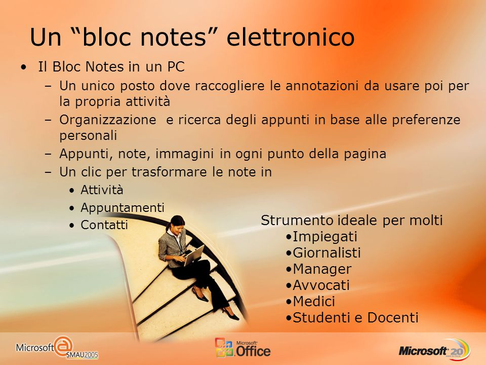 Un bloc notes elettronico