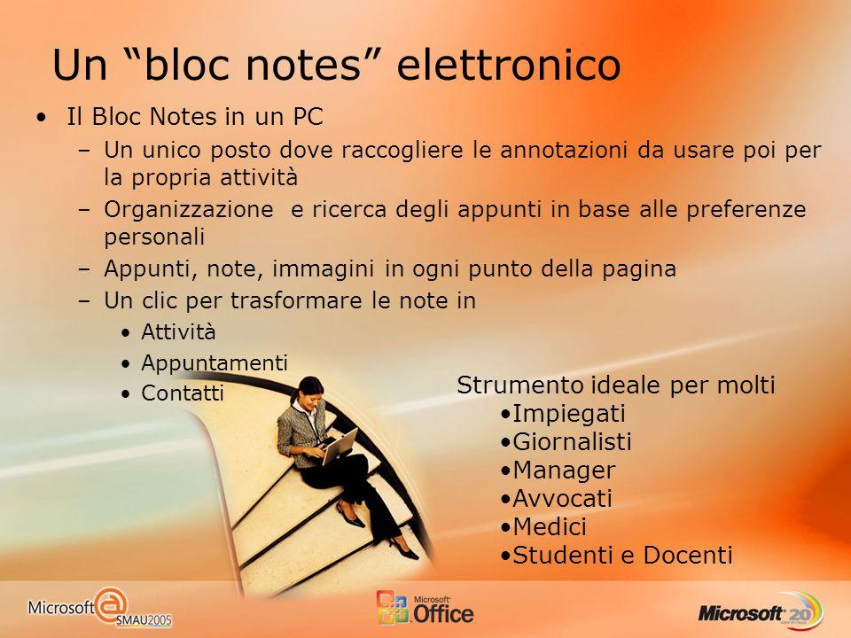 Un bloc notes elettronico