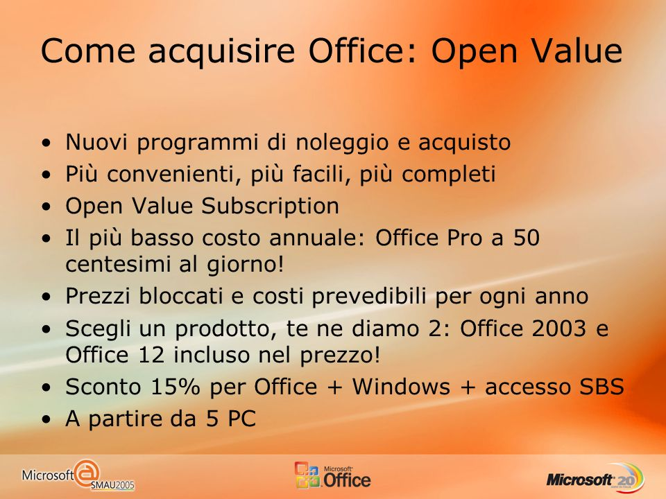 Come acquisire Office: Open Value
