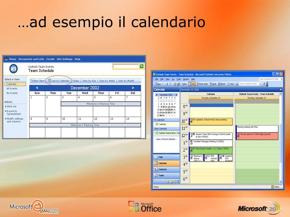 …ad esempio il calendario