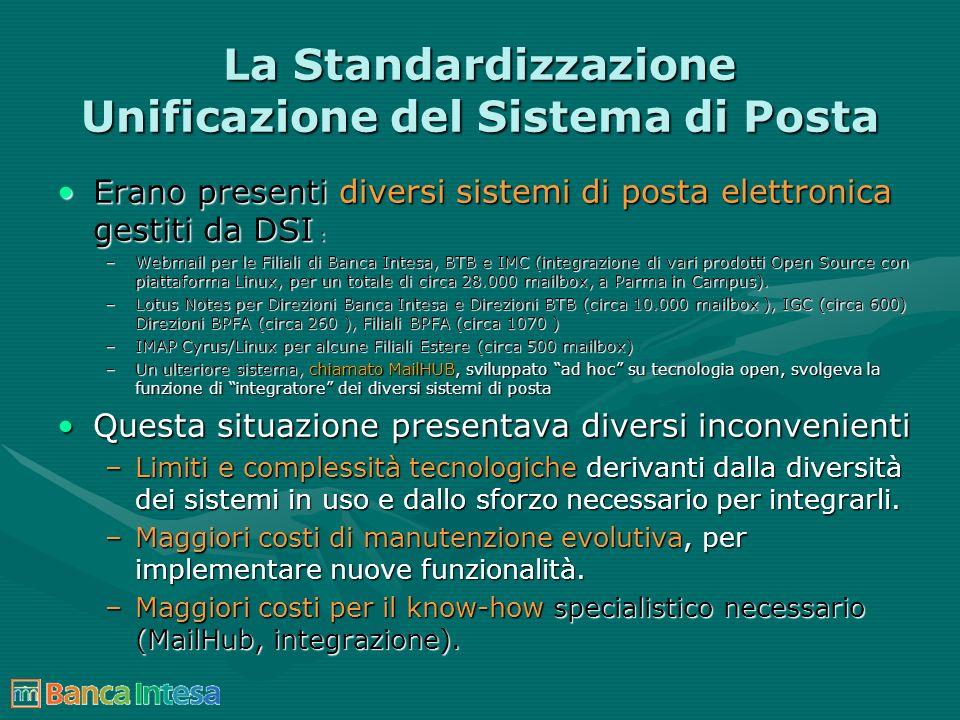 La Standardizzazione Unificazione del Sistema di Posta