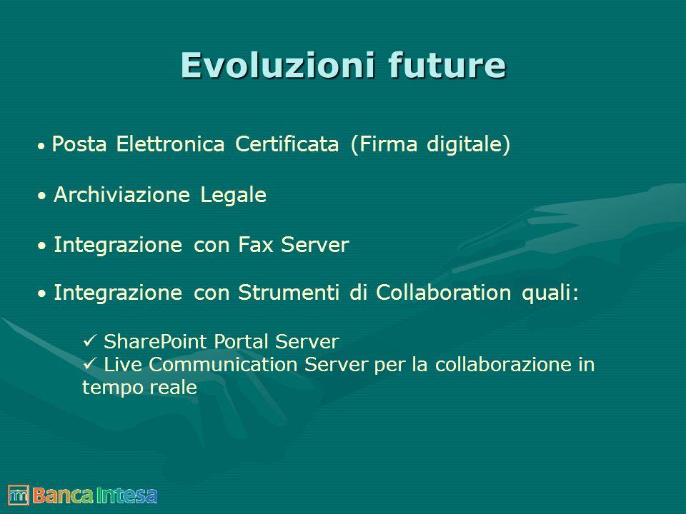 Evoluzioni future Archiviazione Legale Integrazione con Fax Server