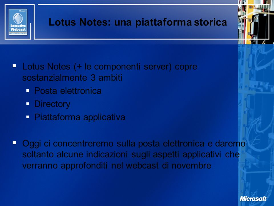 Lotus Notes: una piattaforma storica