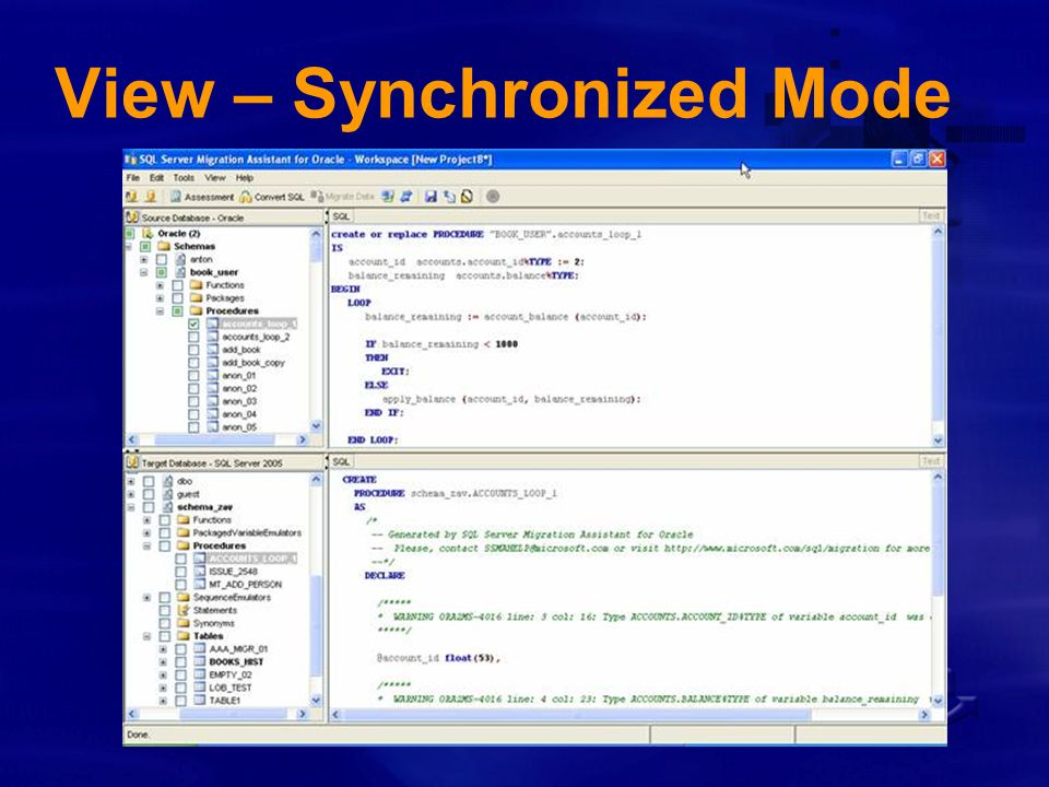 View – Synchronized Mode