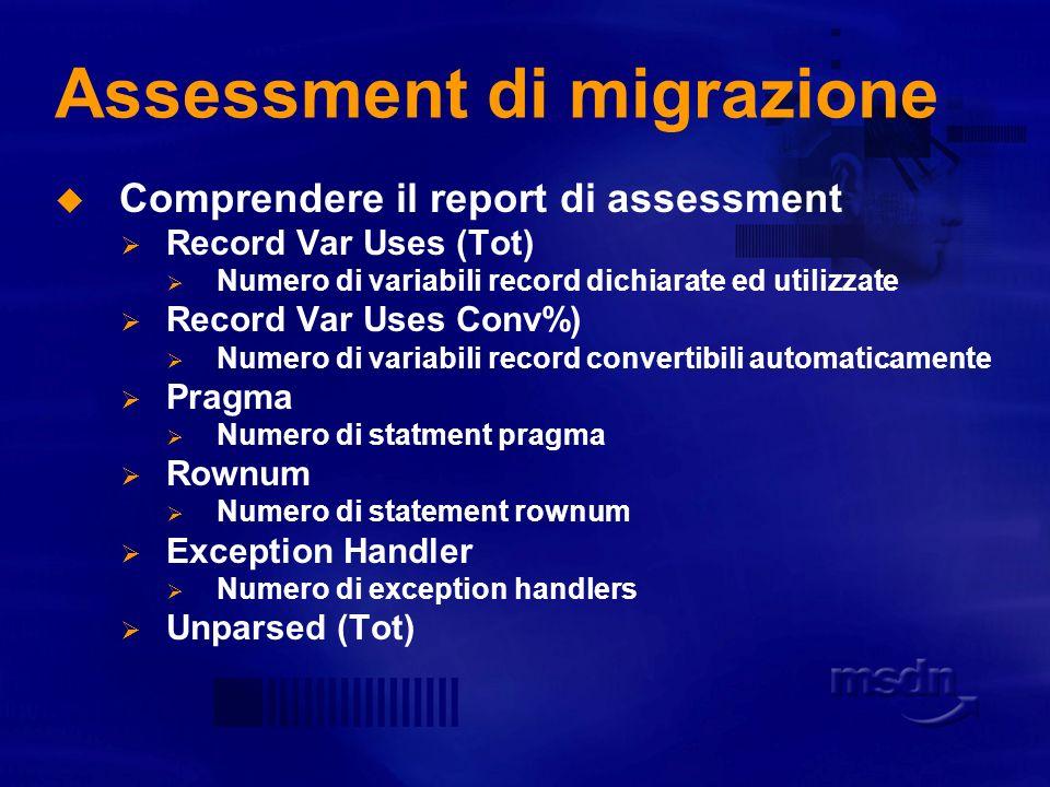 Assessment di migrazione