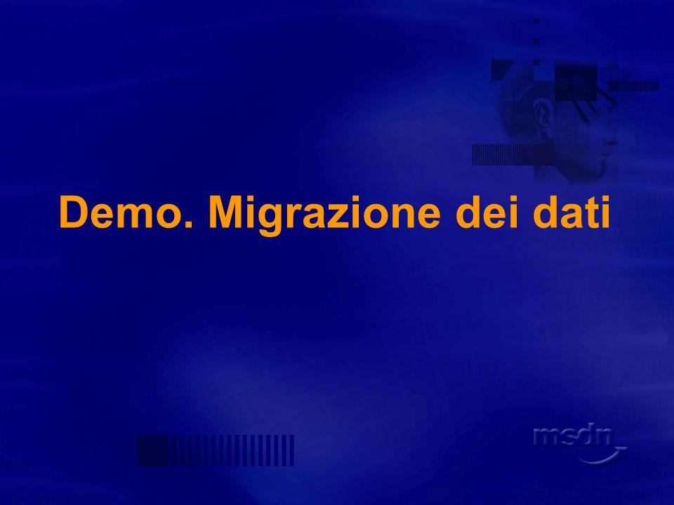 Demo. Migrazione dei dati
