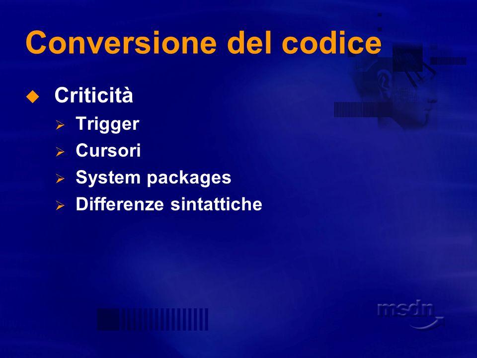 Conversione del codice