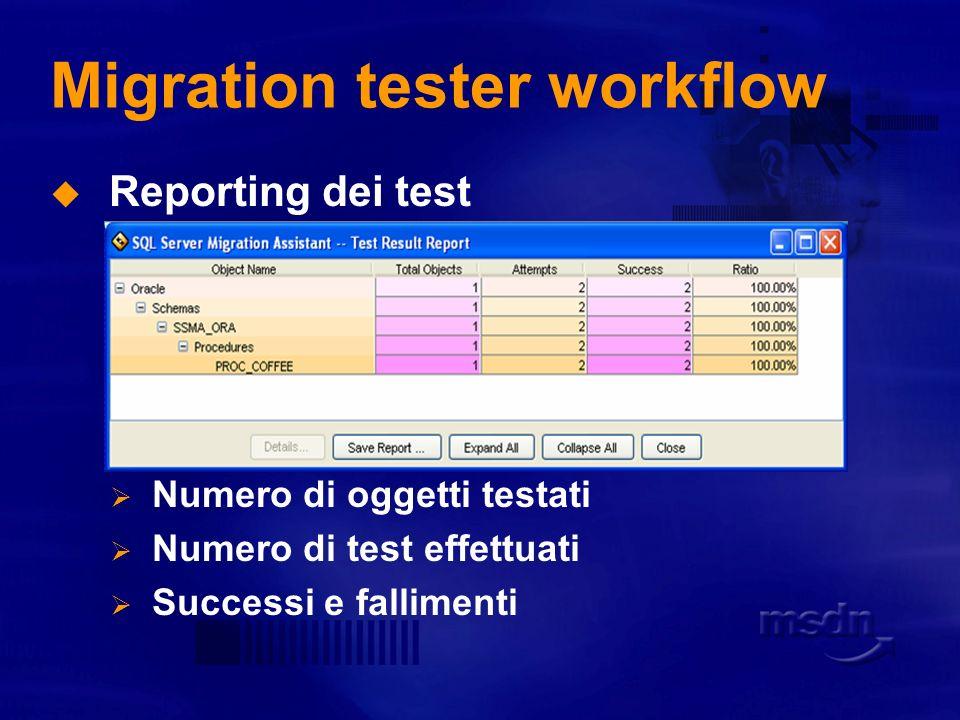 Migration tester workflow
