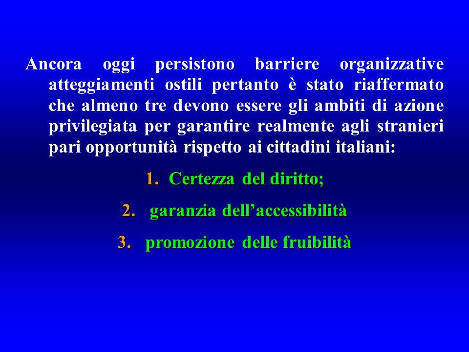 garanzia dell'accessibilità promozione delle fruibilità