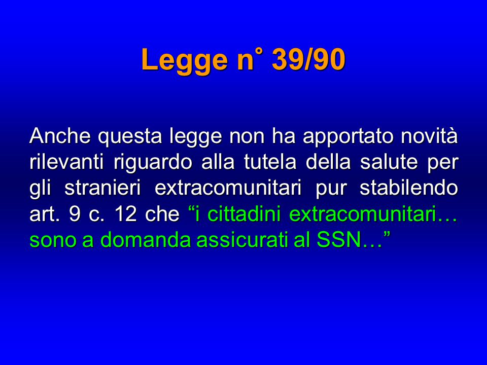 Legge n° 39/90