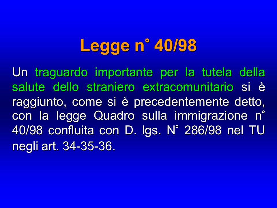 Legge n° 40/98