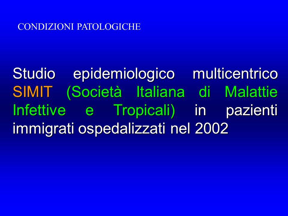 CONDIZIONI PATOLOGICHE