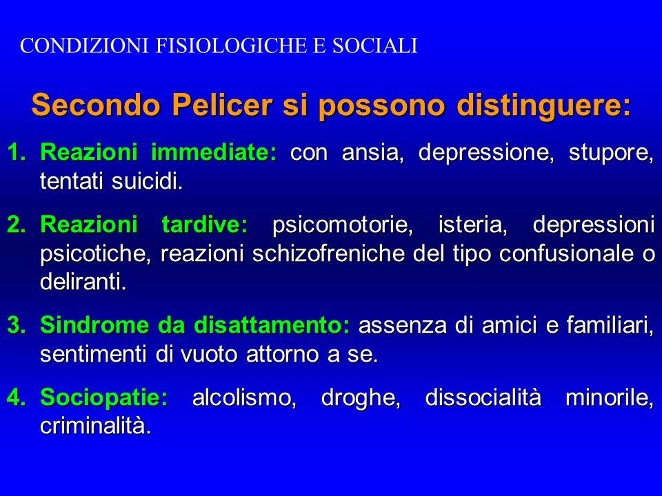 Secondo Pelicer si possono distinguere: