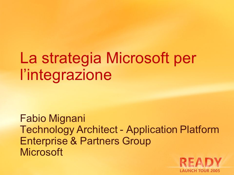 La strategia Microsoft per l'integrazione