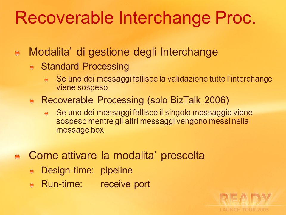 Recoverable Interchange Proc.
