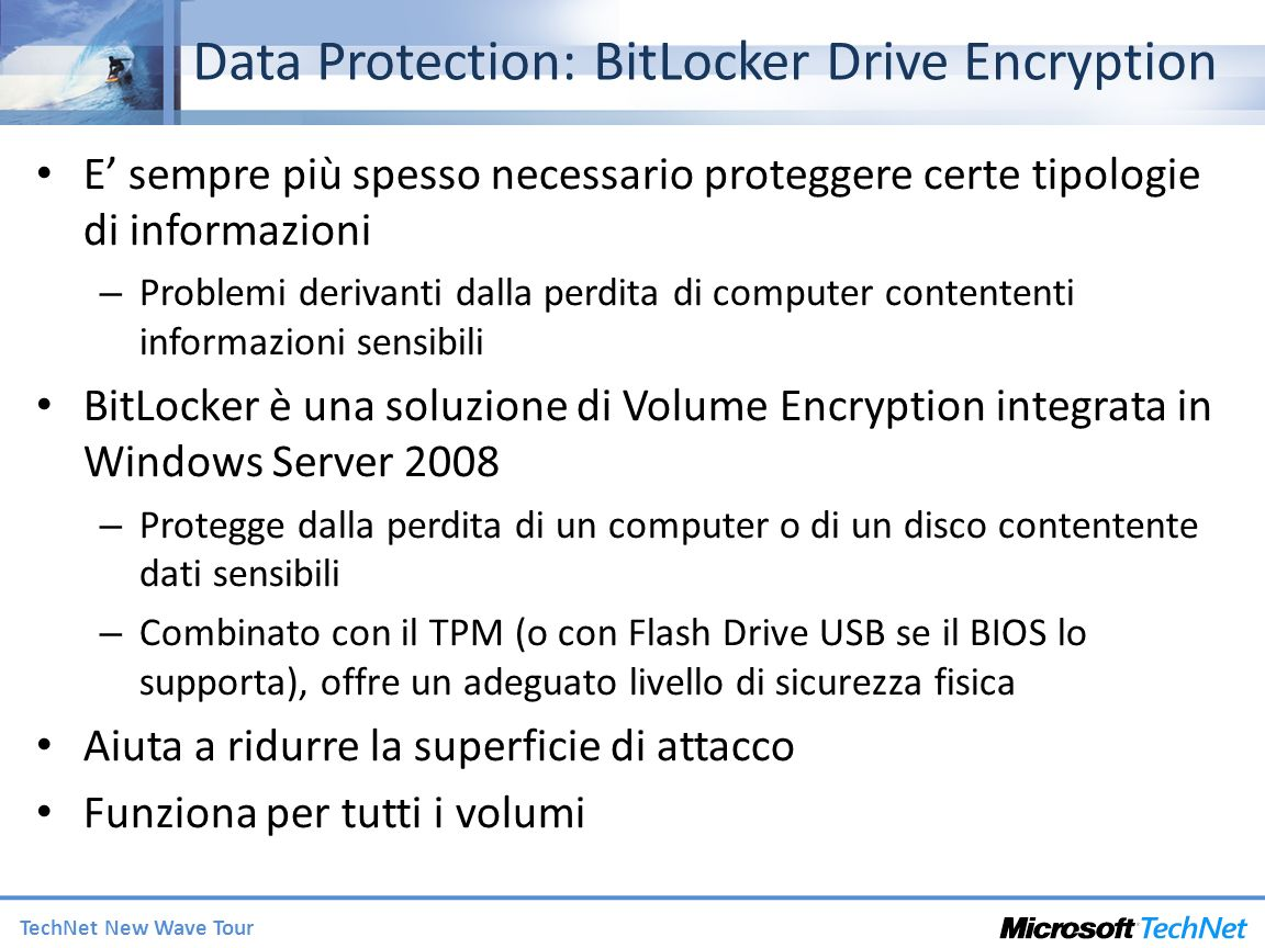 Data Protection: BitLocker Drive Encryption