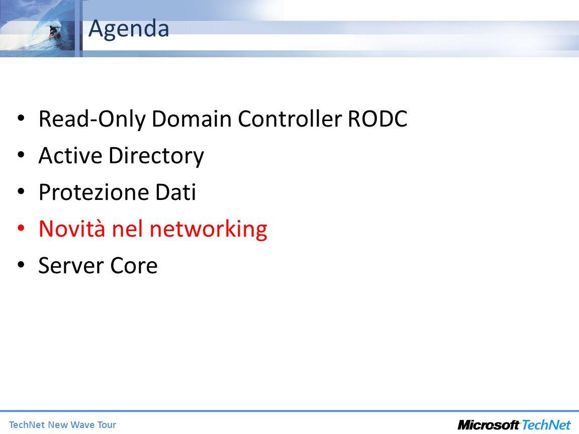 Agenda Read-Only Domain Controller RODC Active Directory