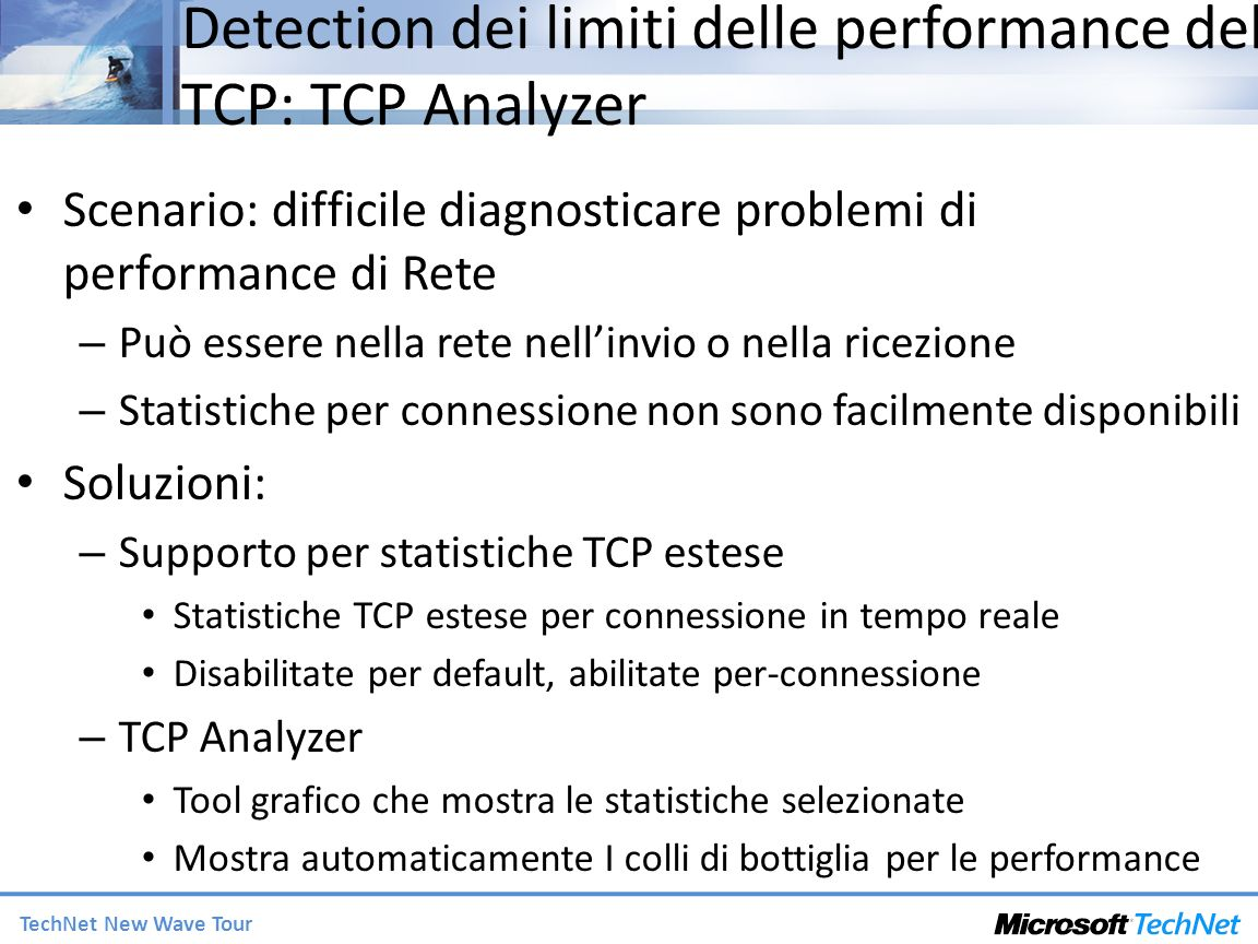 Detection dei limiti delle performance del TCP: TCP Analyzer
