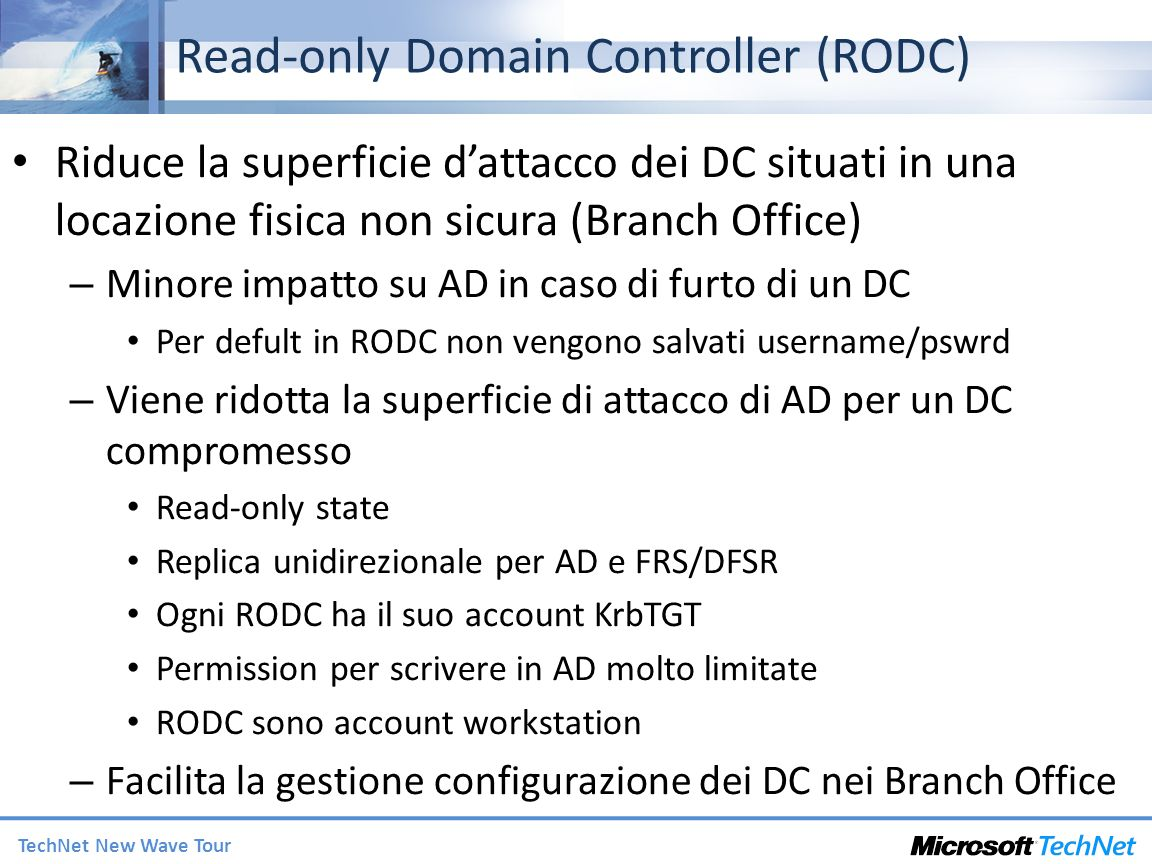 Read-only Domain Controller (RODC)