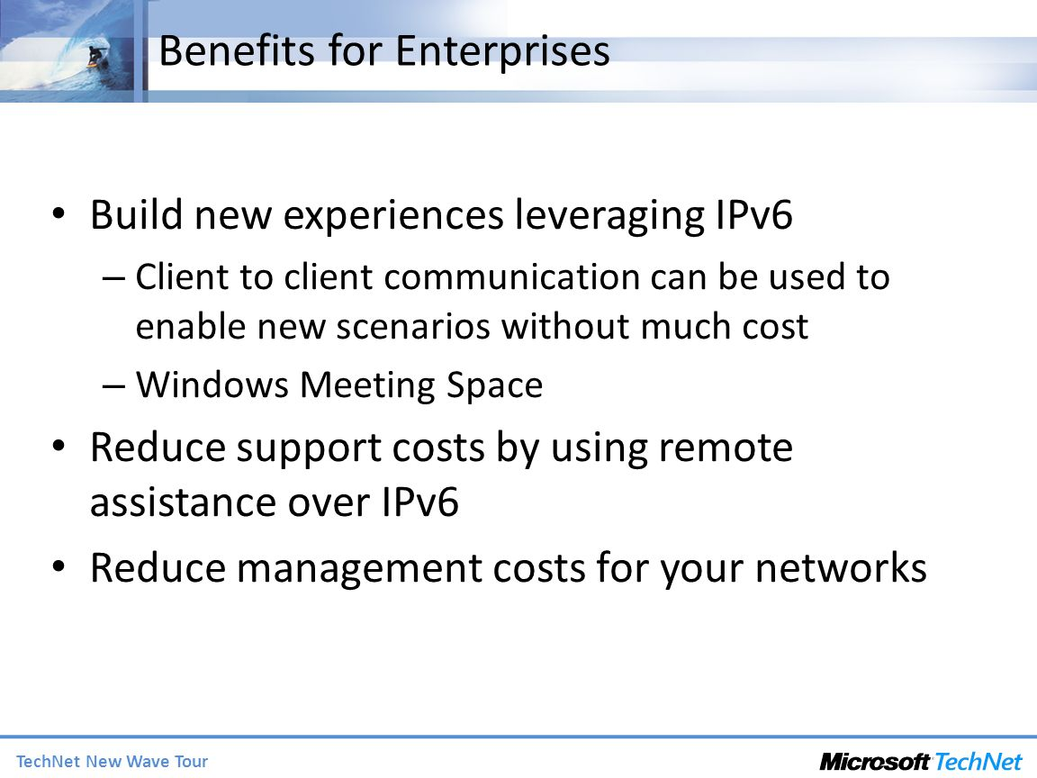 Benefits for Enterprises