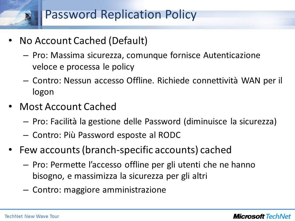 Password Replication Policy