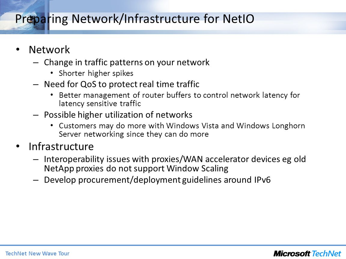 Preparing Network/Infrastructure for NetIO