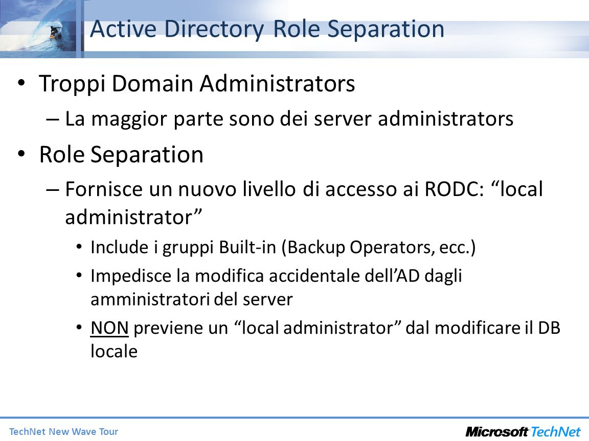 Active Directory Role Separation