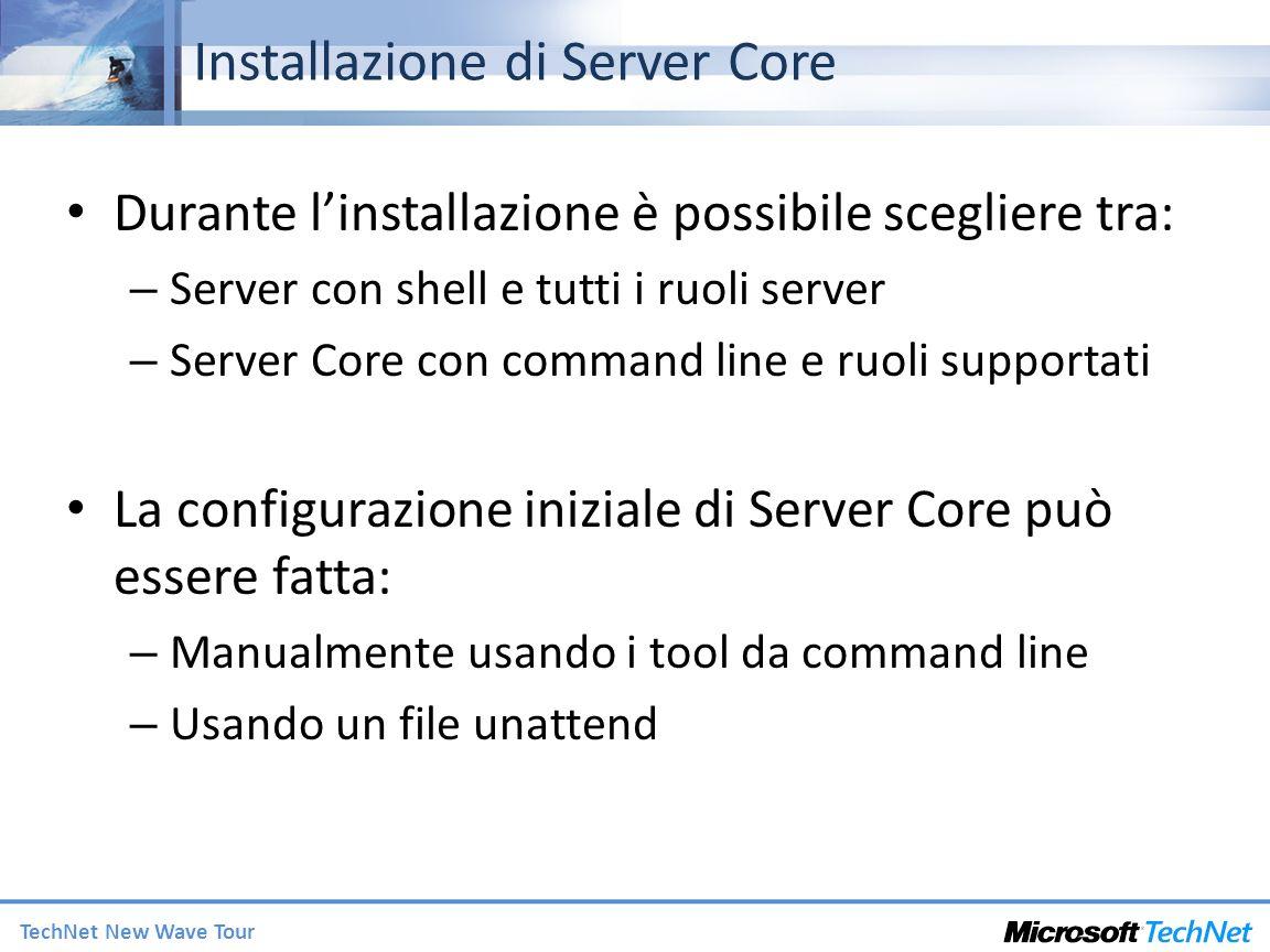Installazione di Server Core