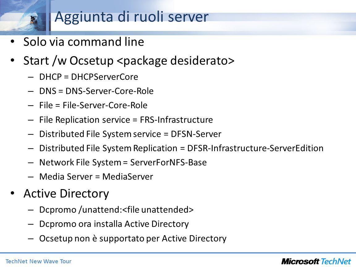 Aggiunta di ruoli server