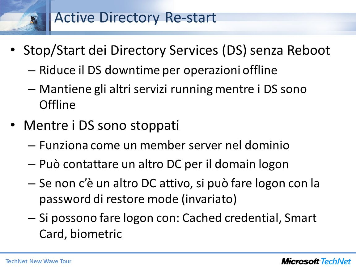 Active Directory Re-start