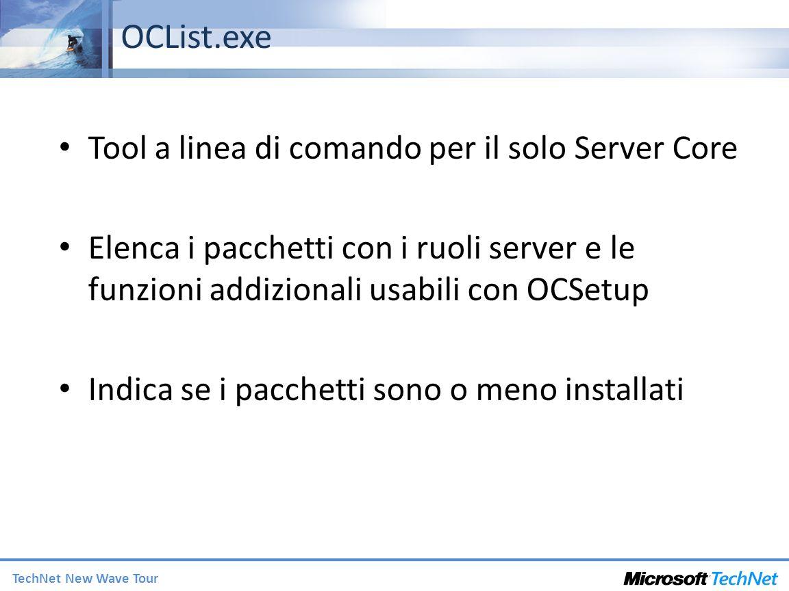OCList.exe Tool a linea di comando per il solo Server Core