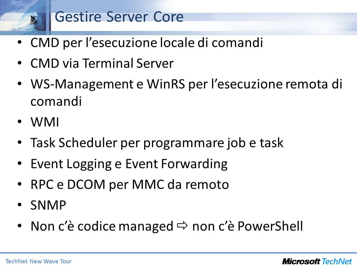 Gestire Server Core CMD per l'esecuzione locale di comandi