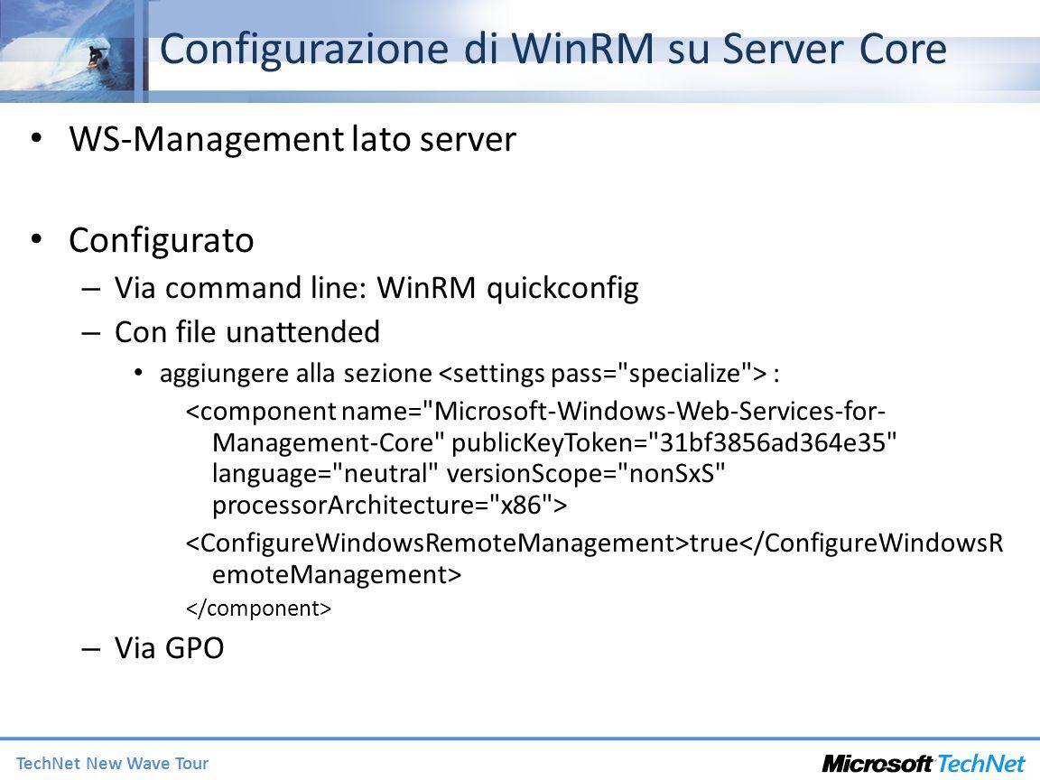 Configurazione di WinRM su Server Core