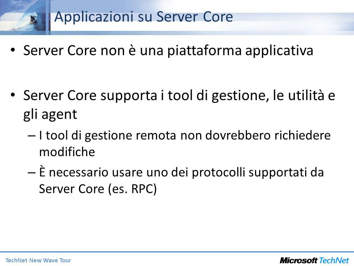Applicazioni su Server Core