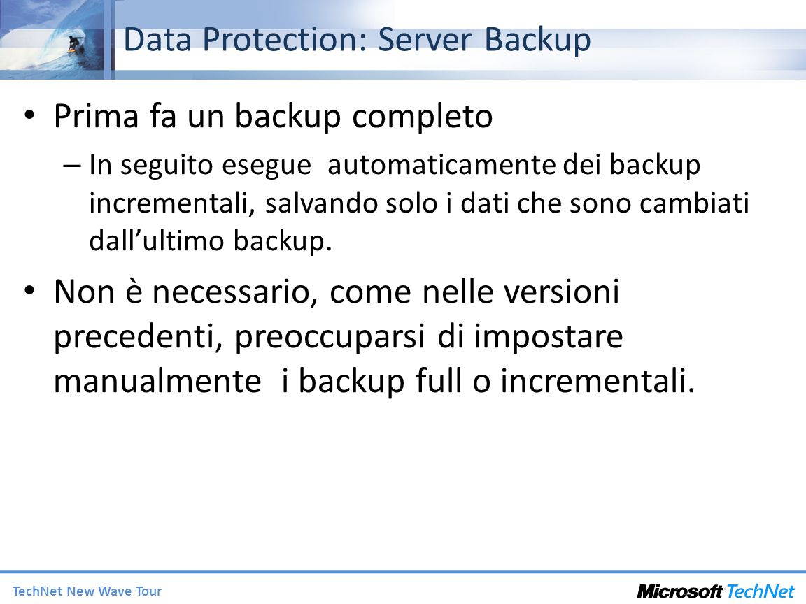 Data Protection: Server Backup