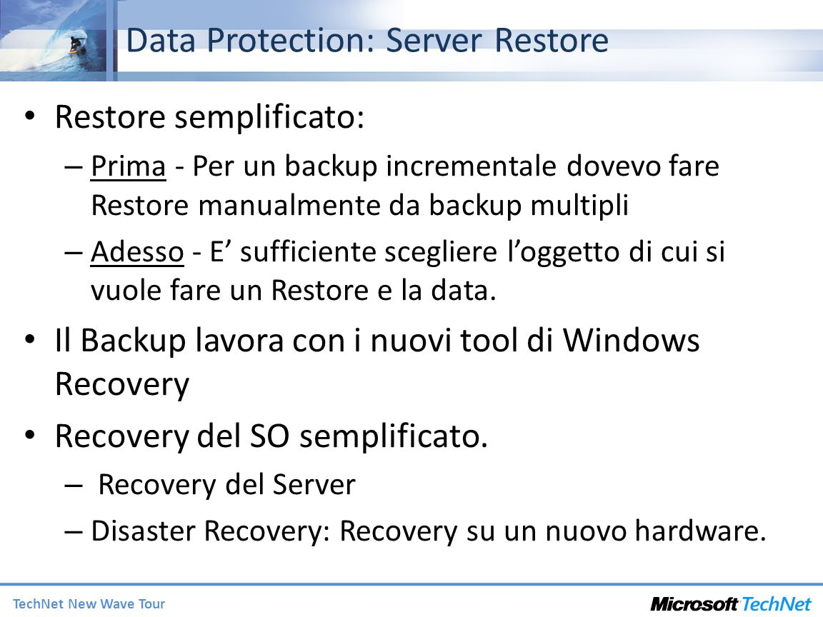 Data Protection: Server Restore